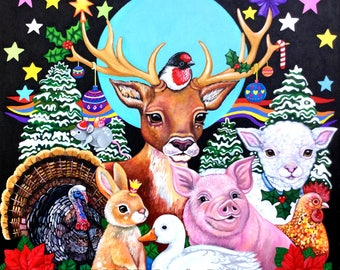Tis the Season to be Kind - fine Art Print (11.7 inches)