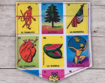 Loteria board Sticky Pocket Patches - Patch for Tshirts