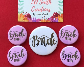 Bachelorette Party Buttons | Bachelorette Party Pins | Bride Tribe Buttons | Bride Button