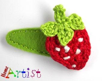 Hair clip strawberry