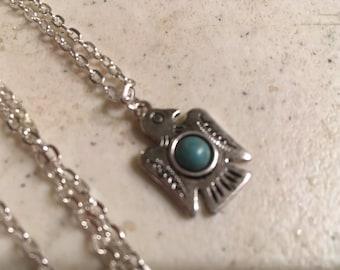 Thunderbird Necklace - Silver Jewelry - Turquoise Jewellery - Pendant - Southwestern