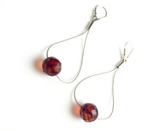 Sale 20% off Vintage Baltic Amber earrings, Amber Sterling Silver earrings, Natural Amber earrings, Amber earrings