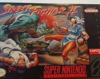 Authentic Street Fighter II Complete In Box