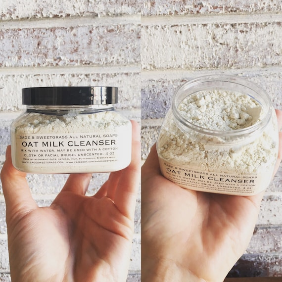 OAT MILK CLEANSER {Babies + Adults, Softens, Moisturizes, Soothes, Healing, Gently Exfoliates, Sensitive, Dry + All Skin Types}