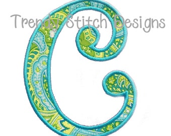 Pizazz Font Applique Design 4x4 and 5x7 Applique Machine Embroidery Design INSTANT DOWNLOAD