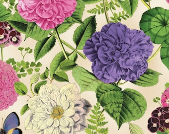 Wilmington Prints - Flower Show - Large Floral - Ivory - Fabric by the Yard 68421-173