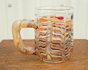 Blown one-of-a-kind Glass Mug