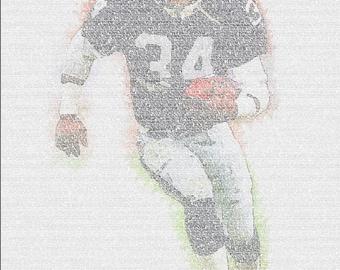 Bo Jackson Stats Sport Print