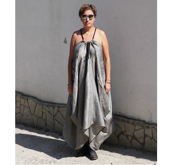 Linen Maxi Dress, Oversized Flare Dress, Abaya, Caftan Dress, Plus Size Smock Dress, Boho Gipsy Dress, Long Summer Dress