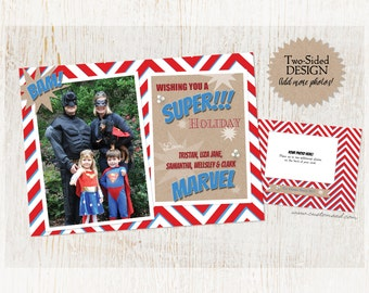 Superhero Holiday - A MARVELous Holiday - PERSONALIZED Christmas with PHOTO - 2