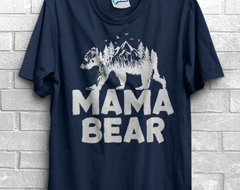 Mama Bear T-Shirt New baby Maternity Announcement Expecting Pregnancy Reveal Womens Gift for Her mom to be mommy MOTHERS DAY Surprise