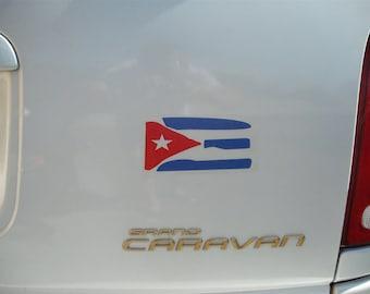 Cuba FLAG BANDERA Vinyl Decal Sticker NEW