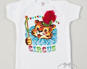 Vintage Circus Tiger Shirt - Circus Party Shirt - Toddler Circus Tee - Sibling Circus Shirt - Retro Baby Big Top - Tween Circus Tshirt
