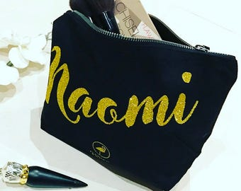 "Personalised Make Up Bag with ""Not just Beautiful on the Outside"" Hidden Message."