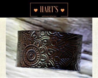 Leather Cuff Bracelet Sized To Fit