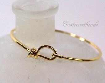 TierraCast Wire Bracelet, Gold Plated Brass Wire Bracelet, 1 Pieces