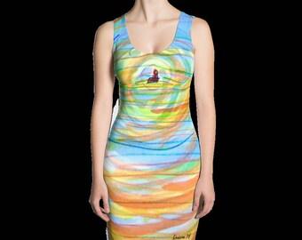 The Field print dress. Get 2 looks in 1!