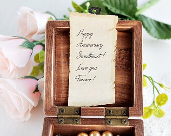First Anniversary Gift for Her, Wooden Jewelry Box, Romantic Gift for Wife, Personalized Gift for Her, Special Gift for Her, Gift For Mom
