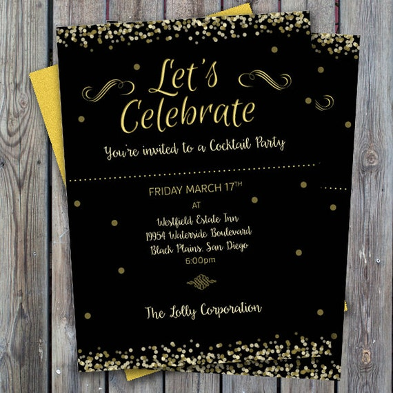 Items similar to Cocktail party invitation, printable ...