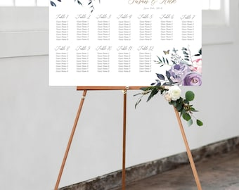 Seating Chart - Lavender Whispers (Style 13805)