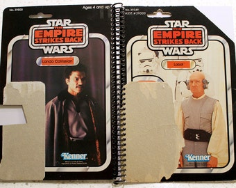 Lobot & Lando Calrissian Recycled Vintage Star Wars ESB Notebook/Journal