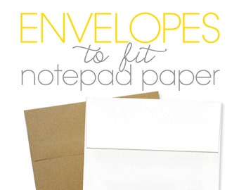 BLANK ENVELOPES for notepads - A1 envelope size - set of 10