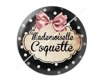 resin cabochon is 25 mm mademoiselle coquette 1 stick