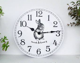 kids clock 12 inches Wall Clock Home Decor nursery wall clock children room decor children wall art