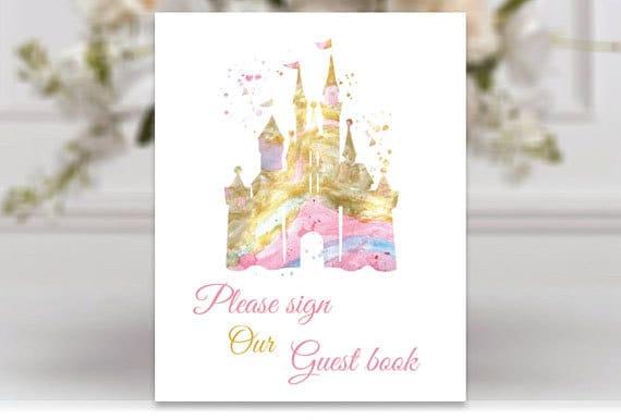 Gäste Buch Hochzeit Zeichen Disney Schloss Hochzeit Zeichen