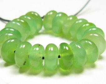 6x2.5mm Australian Chrysoprase Small Rondelle Bead - 20 beads - #LS8148