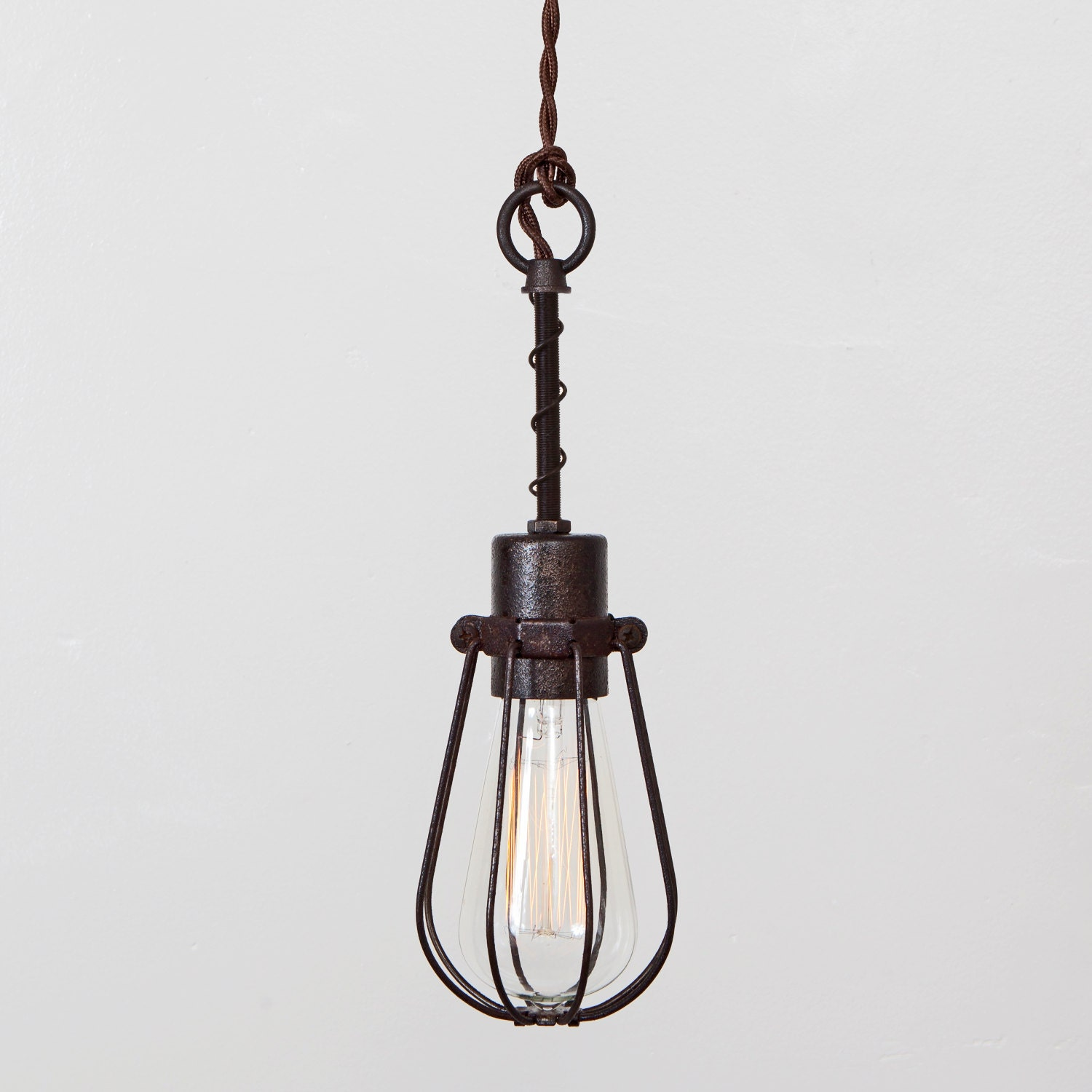 oval bulb cage light pendant light industrial hanging light