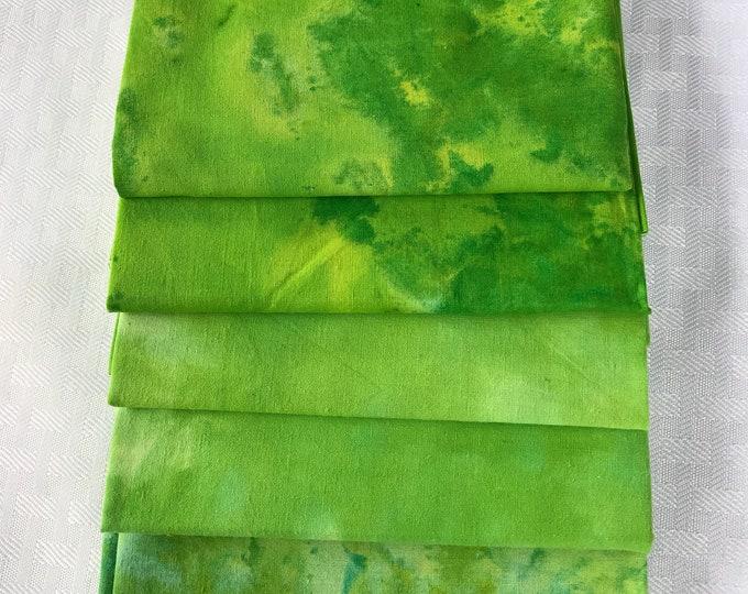 Lime Batik Fat Quarter Bundle