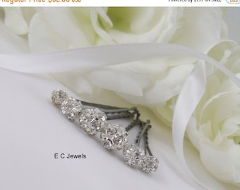 SHOP SALE Set of 12 Mixed Sizes of Rhinestone Hairpins