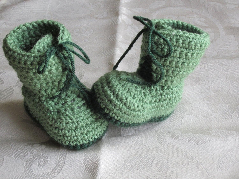 Häkeln Sie grüne Springerstiefel Häkeln Sie Army Stiefel