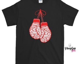 Boxer Tee Shirt | Gift For Boxer | Brain Gloves Shirt | Best Boxer Gift | Graphic Tee | Boxing Mind Tee | Birthday Gift | Gift For Boxer