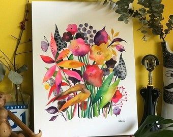 Suddenly Summer. . . original watercolor... 12 in x 16 in...