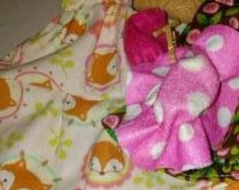 Barbie Pink fox pattern dress 107B