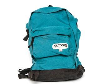 blue jansport style vintage 90s BACKPACK day pack