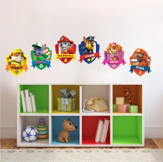 Paw Patrol Bedroom Wall Decal Sticker Removable Kids Wall