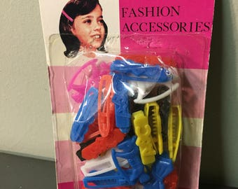 Vintage Holdette Fashion Accessories children kids little girl Hair Baretts