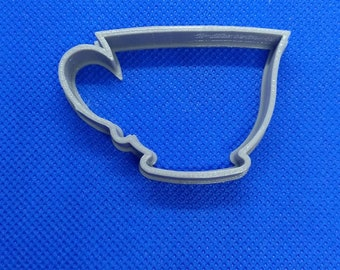 Tea Cup shaped Cookie Cutter - 3D printed tea cup / espresso coffee shape baking accessory