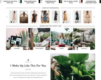 "Responsive Wordpress Theme ""Umea"" //  Photography Slider Instant Digital Download Premade Ecommerce Woocommerse Website Shop Active"