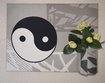 Mural organizer Office wall decoration Feng Shui pen Holders Yin Yang Taiji tai chi