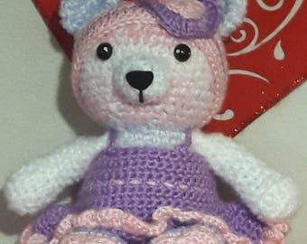 Crochet love bear