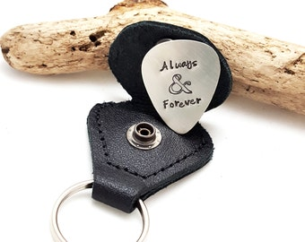 Valentine's Day Guitar Pick - Valentine's Day gift - Always and Forever