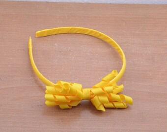 yellow headbands,Polyester fiber covered headband,5pcs plastic headbands,flower headband,ABS headband,plastic hair band,hairband with flower