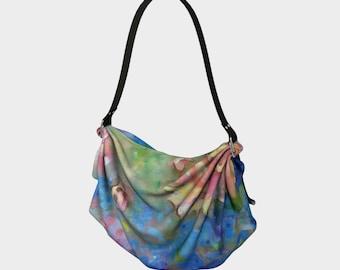 Dreams of Love Origami Tote Bag Fabric Purse Hippie Bag Side Purse Sling Bag Picnic Blanket Flower Purse Festival Tote Fashion Mom Gift