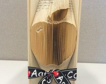 Apple for the Teacher Folded Book Art