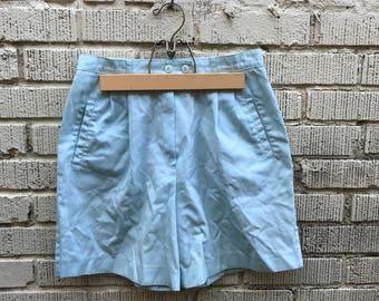 Vintage Blue Shorts. Light Blue High Waist Shorts. Small. Medium. Jantzen.