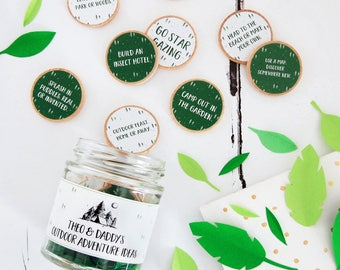 Daddy's OUTDOOR ADVENTURE IDEAS Fathers Day Gift Personalised Jar Pappy Gift Adventure Keepsake Gift For Dada Personalized Gift for Papa